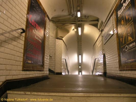 Pariser Metro Wege Fotoente