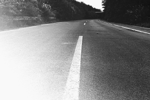 Spaziergang auf der Autobahn